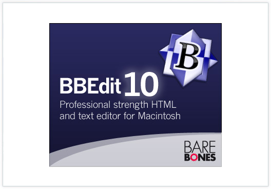 Bare Bones BBEdit 10 adverts